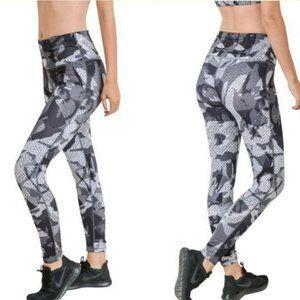 SMALL Mono B APH6121 Camo Yoga Pants High Rise Cam